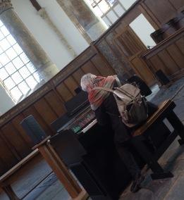 Oude Kerk Man Playing Mellotron