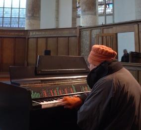 Oude Kerk Woman Playing Mellotron photo by Schönmaier